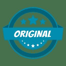 Etiqueta redonda original