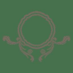 Ornamento remolina marco redondo