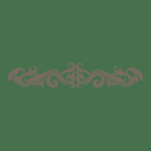 floral con curvas remolinos divisor 3 svg