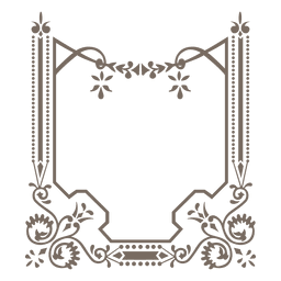 Verzierter dekorativer Rand