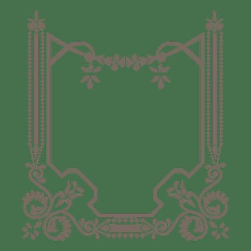 Ornamented decorative border Transparent PNG