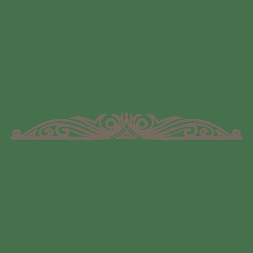 Diseño de decoración divisor ornamentado. Transparent PNG