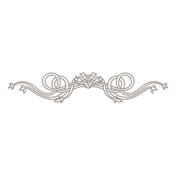 Floral ornamented elegant divider