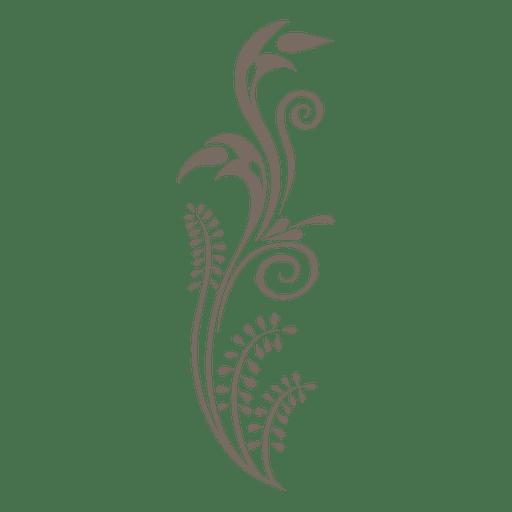 Verzierte Blumenpflanze Transparent PNG