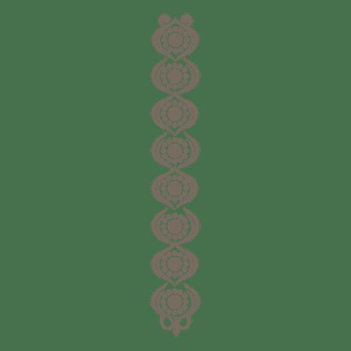 Decoração de fronteira flouring ornamentado Transparent PNG