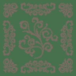 Marco adornado decoración floral