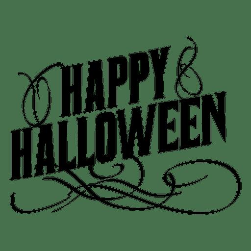 Ornate halloween label Transparent PNG