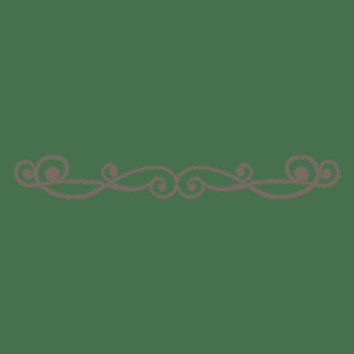 Decoración de divisor de línea ornamentada