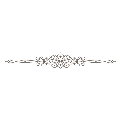 Divisor de líneas de remolinos ornamentados