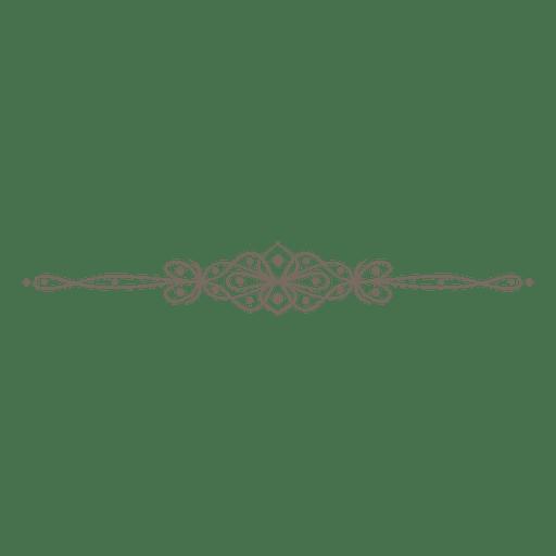 Divisor de linhas de redemoinhos ornamentado Transparent PNG