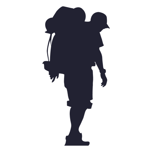 Outdoor hiking silhouette Transparent PNG