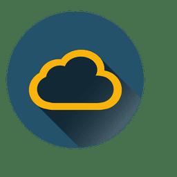 Ícone do círculo nuvem esboço