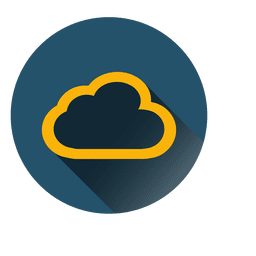 Outline cloud circle icon