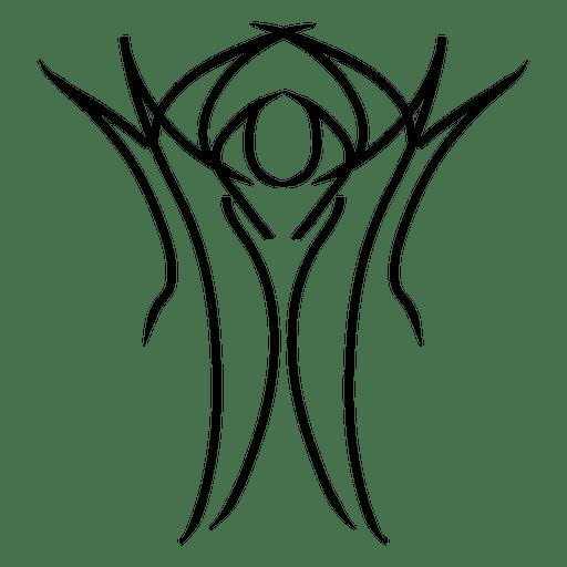 Outline pinstripe Transparent PNG