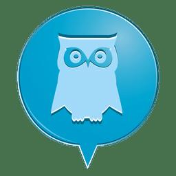 Owl bubble icon