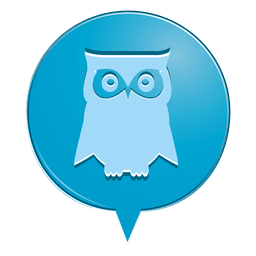 Owl icono de burbuja