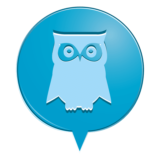 Icono de burbuja búho Transparent PNG