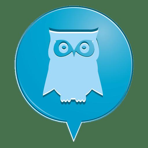 Owl bubble icon Transparent PNG