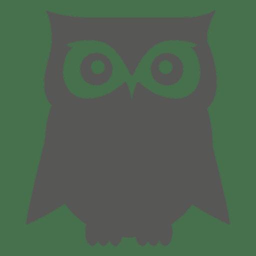 Eule flach Symbol Transparent PNG