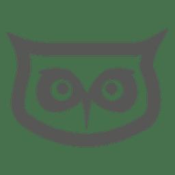 icono de la cabeza del búho