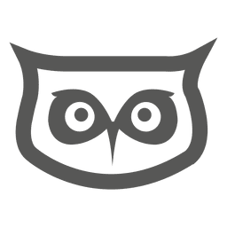 Owl head icon