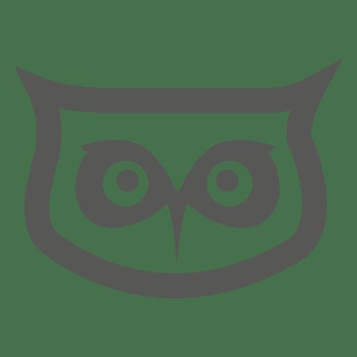 Icono de cabeza de búho Transparent PNG