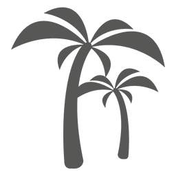 Palm trees icon silhouette