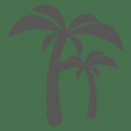Silhueta de ícone de árvores de palma