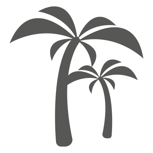 Palm trees icon silhouette Transparent PNG