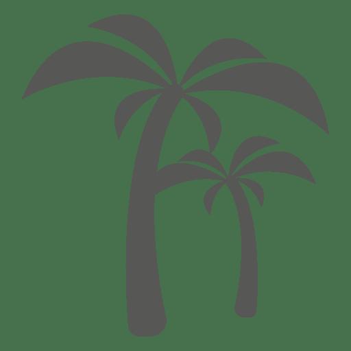 Palm trees icon silhouette