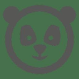 icono de la cara de la panda