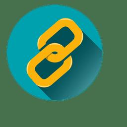 Icono de círculo de clip de papel