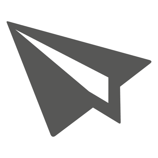 Paper made plane icon