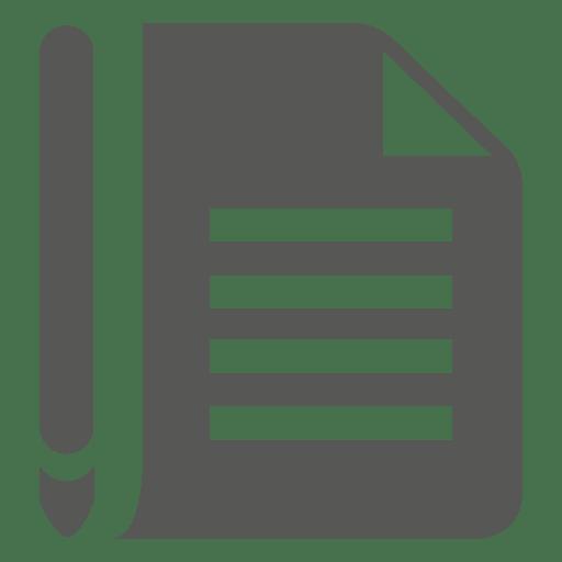 Paper pen icon - Transparent PNG & SVG vector