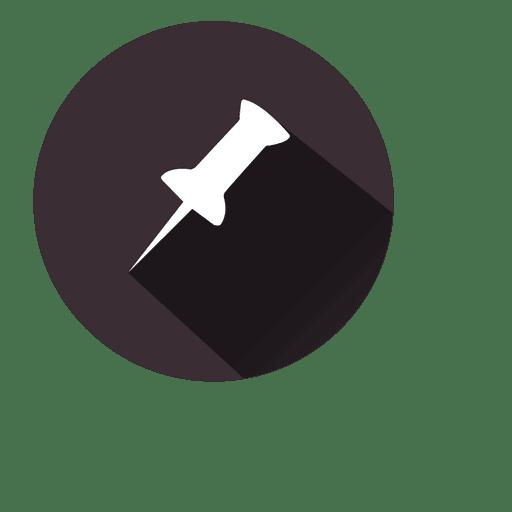 Icono de círculo de alfiler de papel