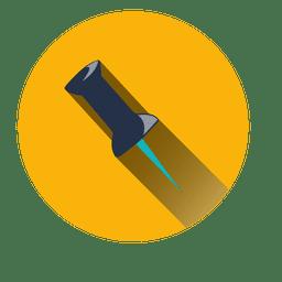 Paper pin circle icon