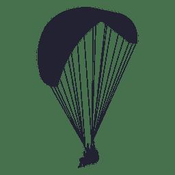 Parachute glider silhouette