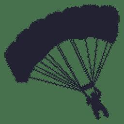 Parachute glider silhouette 1