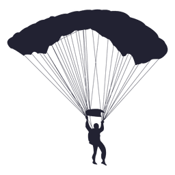 Parachute gliding silhouette