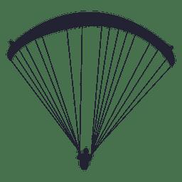 Parachute gliding sport silhouette