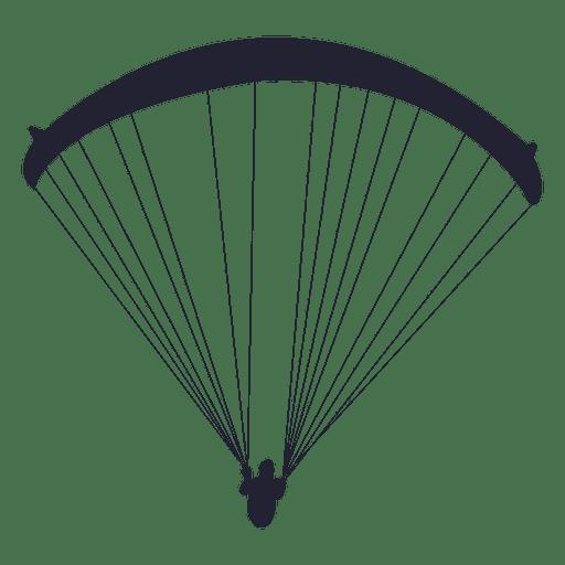 Silueta de deporte de deslizamiento en paraca?das