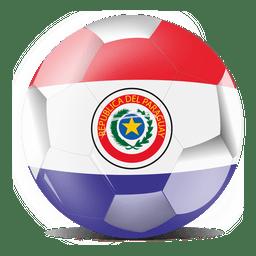 Paraguay flag ball