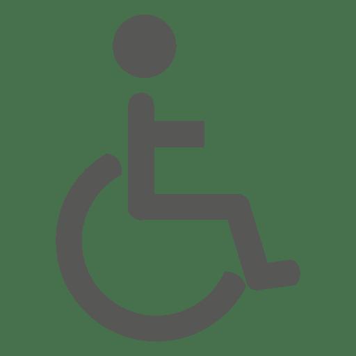 Paciente en icono de silla de ruedas
