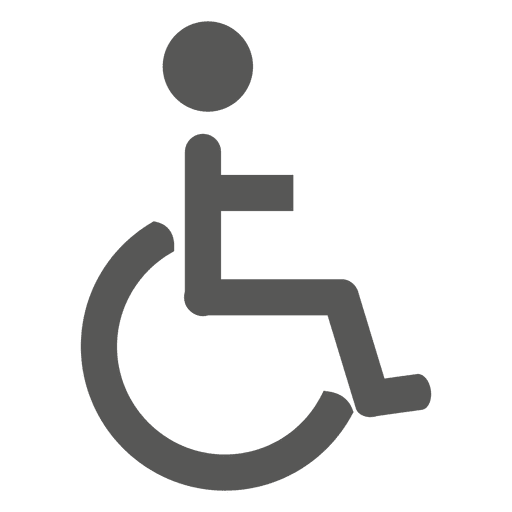 Patient on wheelchair icon