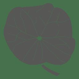 Peltate line stroke leaf