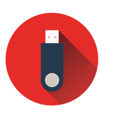 Pendrive circle icon