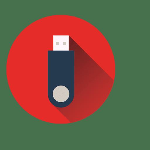 Ícone de círculo pendrive Transparent PNG