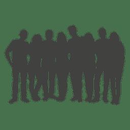 Silhueta de grupo de pessoas
