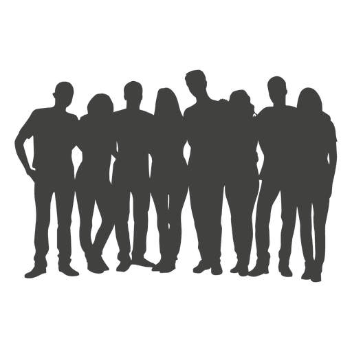 People group silhouette Transparent PNG