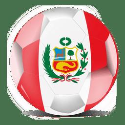 Bola de bandeira do peru